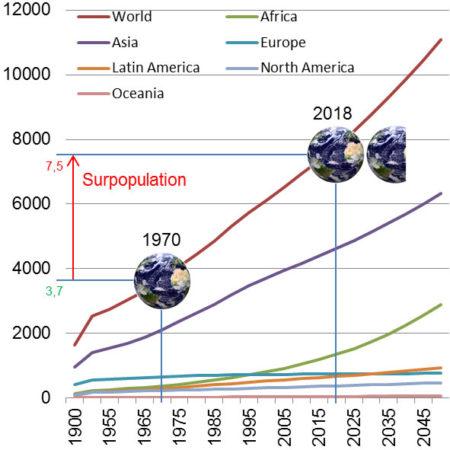 Graphique de la population humaine