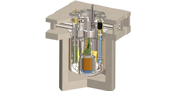Schéma de principe du réacteur nucléaire de TerraPower, le TWR à ondes progressives.