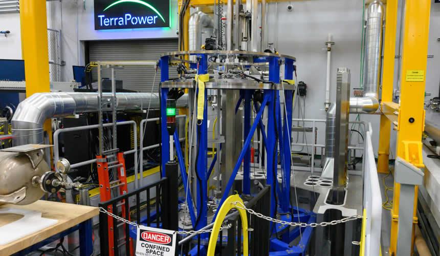 Image du réacteur à ondes progressives (TWR) de TerraPower