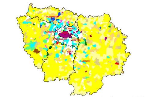 Carte des occupations du sol de l'Agreste