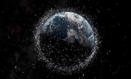 Image des débris spatiaux.