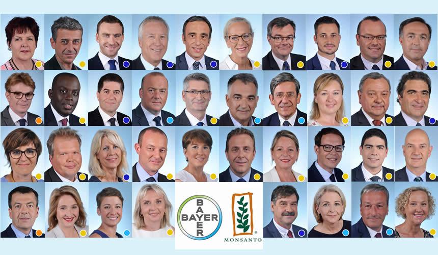 Trombinoscope des députés ayant voté pour le Glyphosate de Monsanto