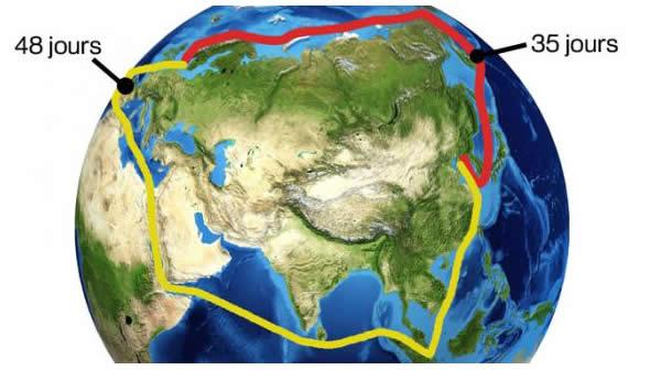 Route maritime de l'arctique pour les cargos chinois