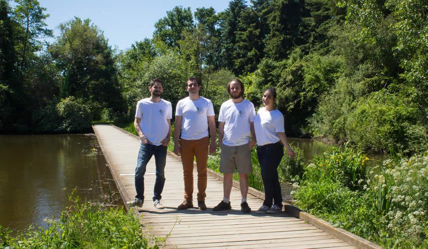 L'équipe de Humming-Earth à Betton