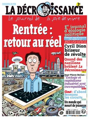"""Le journal """"La décroissance"""" explique comment la décroissance est indispensable pour sauver la planète"""