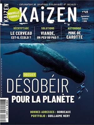 Couverture du magazine Kaizen : Désobéir pour la planète