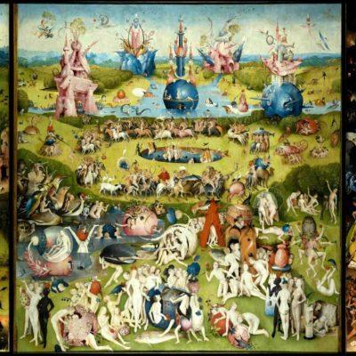 """Tableau triptyque de Jérôme Bosch intitulé """"Le jardin des délices""""."""
