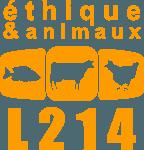 Logo de l'organisation de défense des animaux L214.
