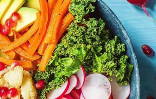 Assiette de légume pour végétarien
