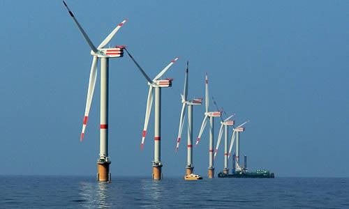 Un parc éolien offshore.