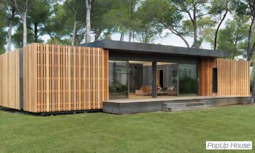 Maison écologique Popup House.