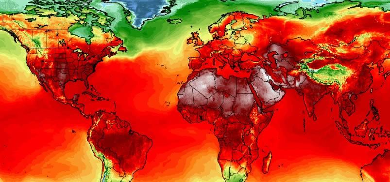 Record de températures sur la planète en juillet 2018