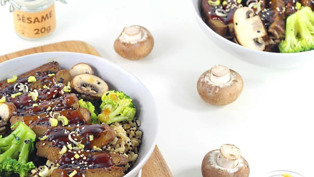 Seitan au brocoli et quinoa