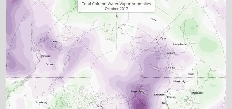 La vapeur d'eau augmente dans l'atmosphère terrestre.
